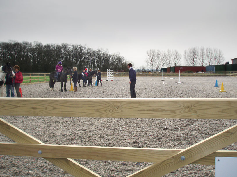 Post image for Riding in our new outdoor arena – lovely!